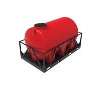 Емкость КАС 3000 Н красная в обрешетке
