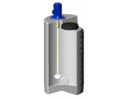 Емкость дозировочная 200 белая с турбинной мешалкой