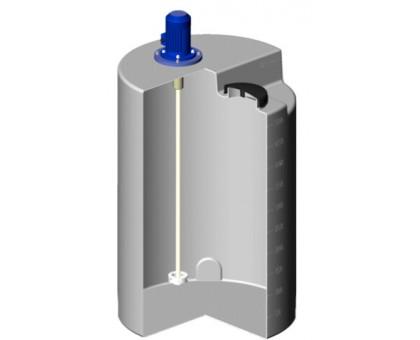 Емкость дозировочная 500 белая с турбинной мешалкой