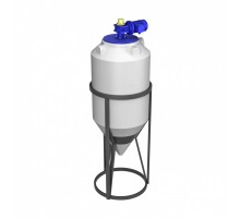 Емкость ФМ 240 белая в обрешетке с турбинной мешалкой