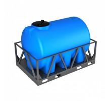 Емкость H 2000 синяя в обрешетке
