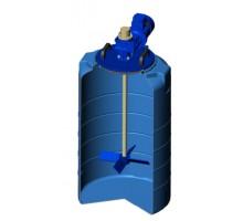 Емкость T 200 синяя с лопастной мешалкой