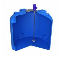 Емкость T 3000 синяя с турбинной мешалкой и комплектом металлических креплений
